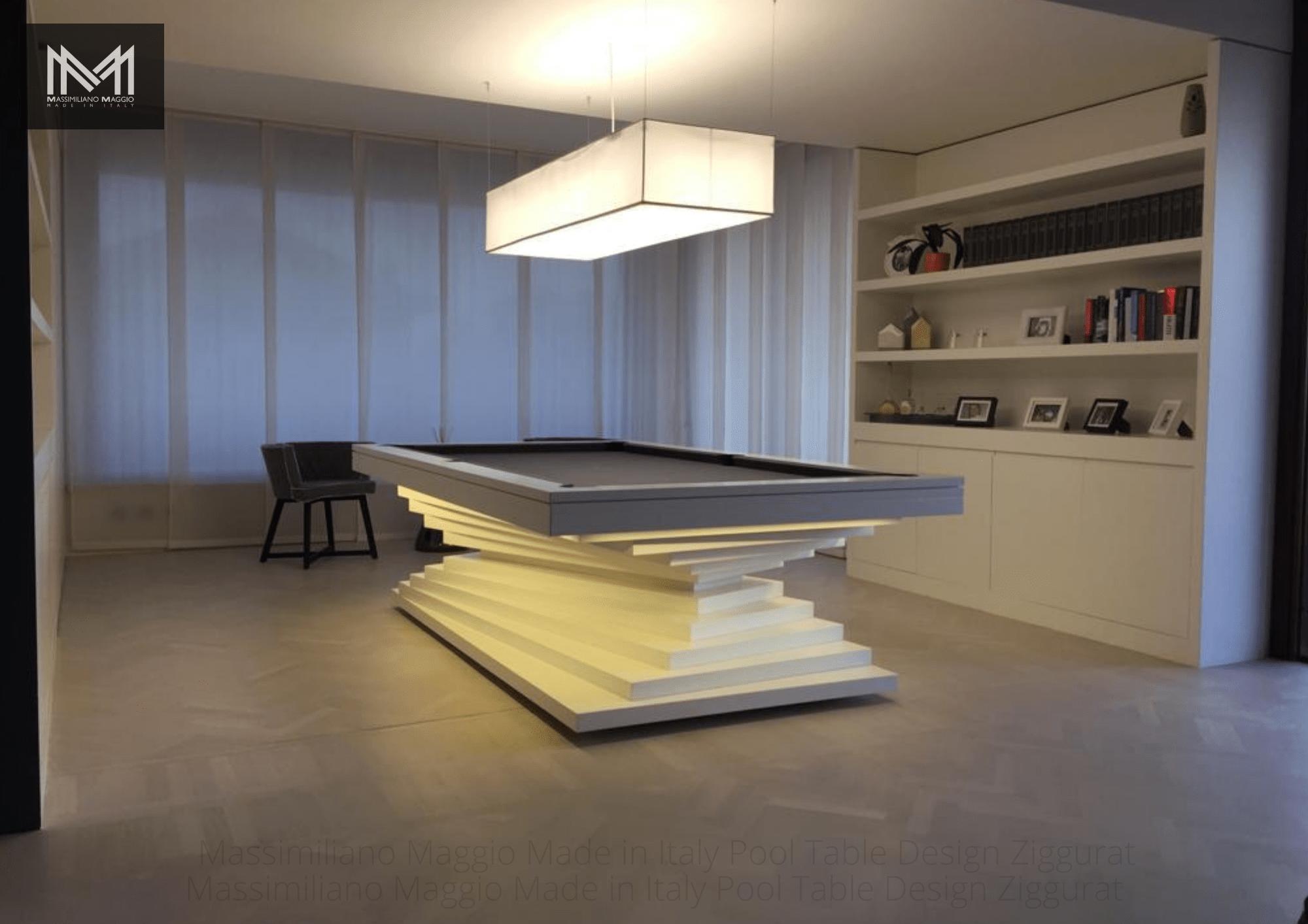 4 Ziggurat Massimiliano Maggio Made in Italy Luxury Pool Table biliardo tavolo