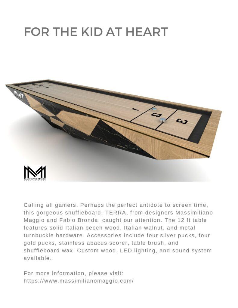3 Design Guide Britto Charette 20129 Issue Massimiliano Maggio Luxury Pool Table Ziggurat 2019 FINAL DESIGN LOVER S Gift guide 1 1 page 0001