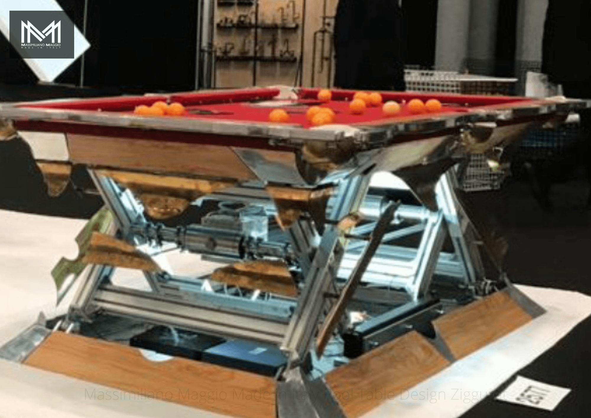 4 Revolution Massimiliano Maggio Made in Italy Luxury Pool Table biliardo tavolo