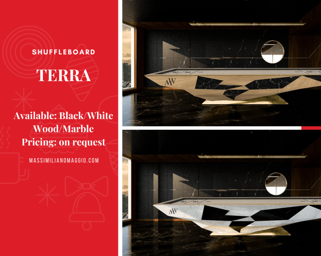 6 Massimiliano Maggio Made in Italy Spread The Joy of Christmas 2019 Luxury Pool Table