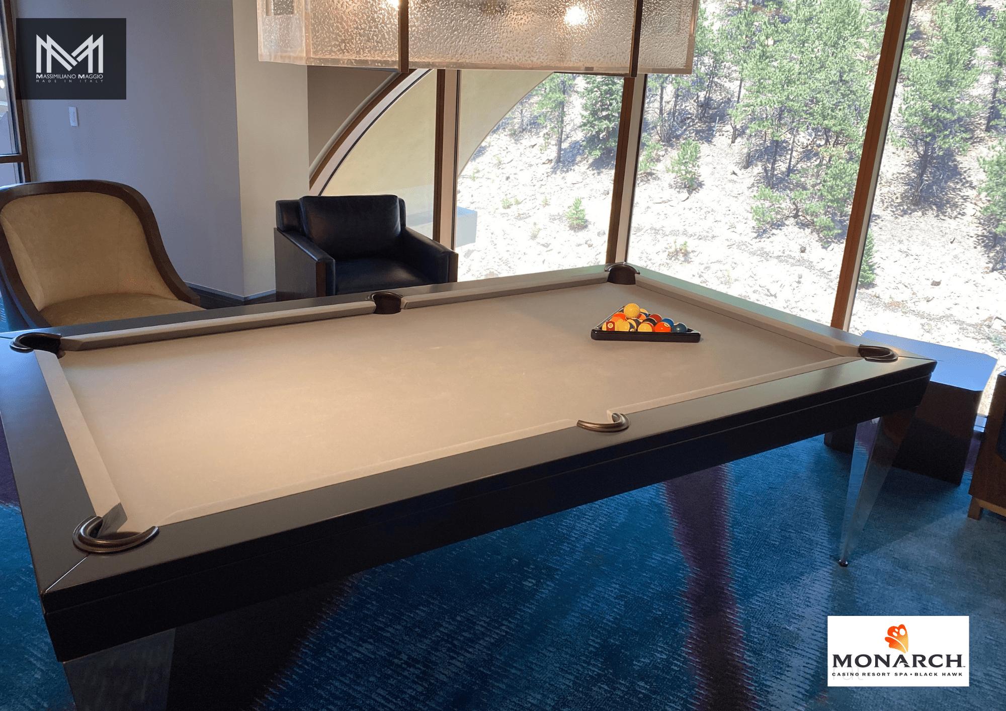 M6 Monarch Black Hawk Las Vegas Massimiliano Maggio Made in Italy Luxury Pool Table biliardo tavolo.png
