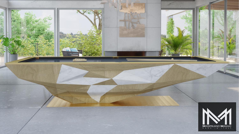 Terra Massimiliano Maggio Made in Italy Luxury Pool Table biliardo tavolo